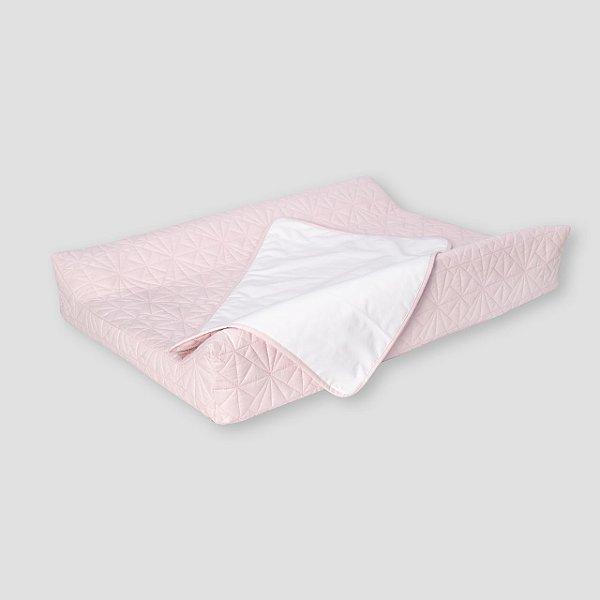 Trocador curvo matelasse rosa