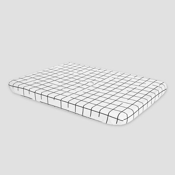 Trocador reto com capa de elástico Grid PR
