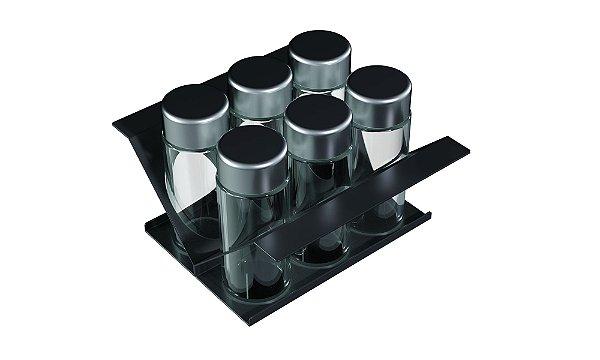 Porta condimentos 150 mm BLACK