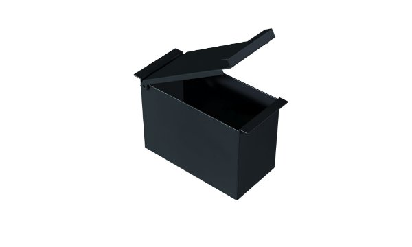 Porta Esponja Com Tampa 75 mm BLACK