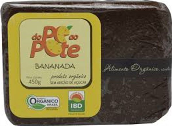 Bananada Fina Do Pé ao Pote Tablete 450 GR