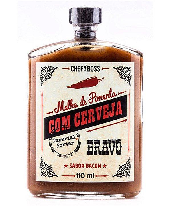 Molho de Pimenta com Cerveja Bravo Sabor Bacon CHEFnBOSS 110 ml
