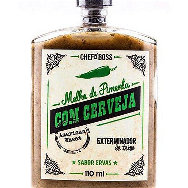 Molho de Pimenta com Cerveja Exteminator  Sabor Ervas Finas CHEFnBOSS 110 ml