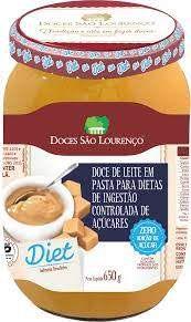 Doce de Leite sem Adição de Açúcar (Diet) São Lourenço 650 GR