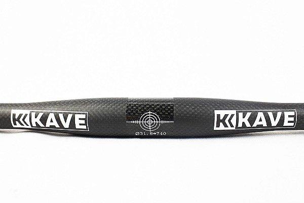 Guidão MTB Kave Toseek Carbono Flat 3K 31.8x740mm