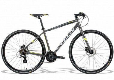 Bicicleta Aro 700 - Caloi City Tour Sport - Shimano Tourney - Alum - Cinza/Verde
