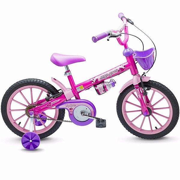 Bicicleta Infantil Aro 16 - Nathor Top Girls - Aço - Rosa e Lilás