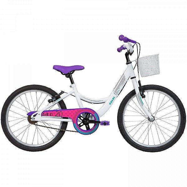 Bicicleta Aro 20 Feminina - Caloi Ceci - Single Speed - Aço - Branca C/ Cores