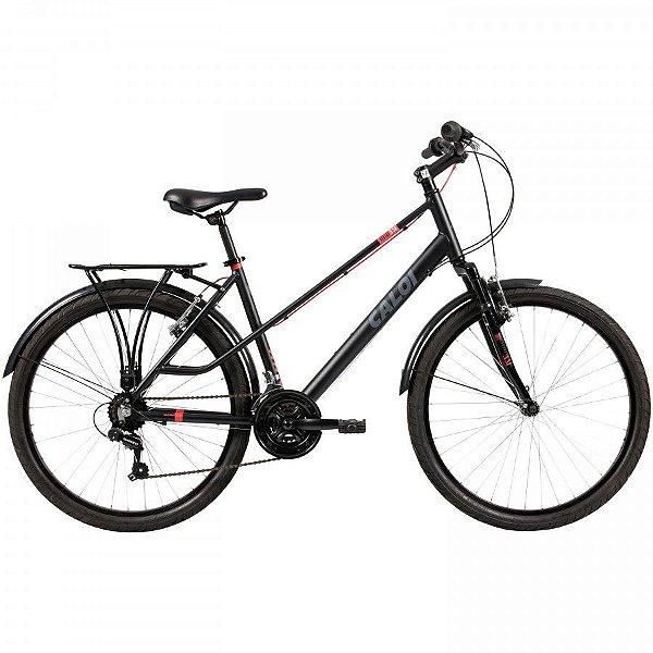 Bicicleta Caloi Urbam Aro 26 Feminina Preta Fosca