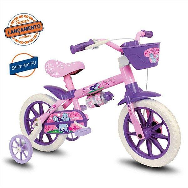 Bicicleta Nathor Cat aro 12 Rosa e Roxo