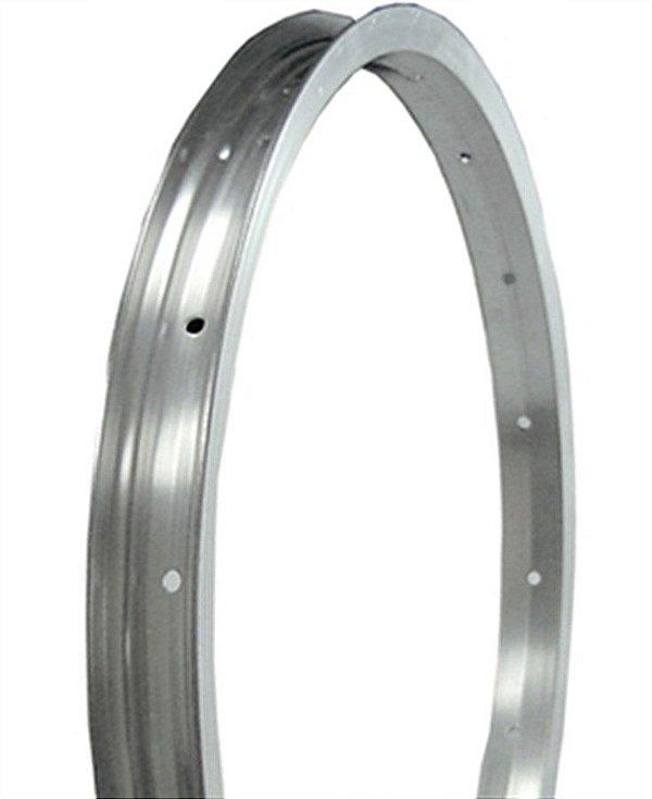 Aro 16x1.75 - 16 Furos - Nacional - Folha Simples - Alumínio - Prata