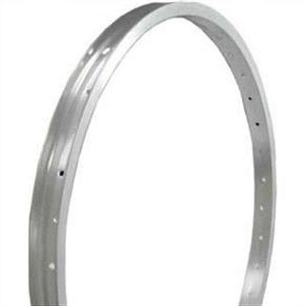 Aro 26x1.9 - 36 Furos - Mountain Bike - Folha Simples - Alumínio - Cor Natural