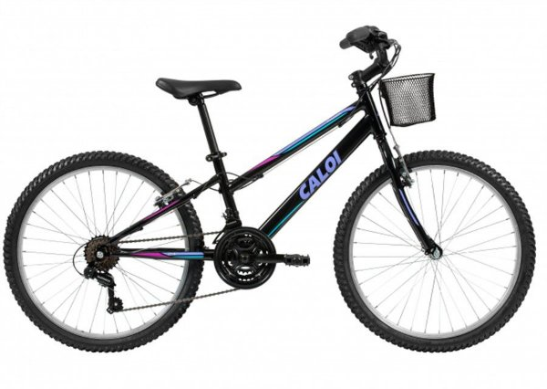 Bicicleta Caloi Sweet Feminina Preta Aro 24