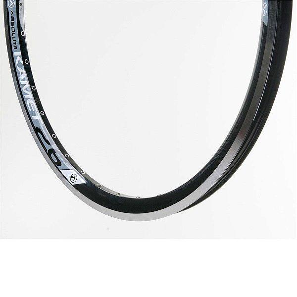 Aro 26 - 36 Furos - Absolute Kamet P/ V-Brake - Folha Dupla - Alumínio - Preto