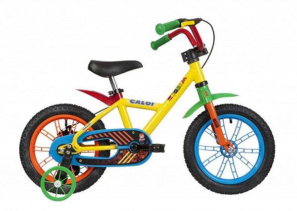 Bicicleta Infantil Aro 14- Caloi Zigbim - Aço - Amarela