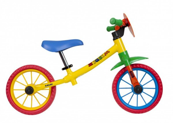 Bicicleta Balance Aro 12 - Caloi Zigbim - Aço - Amarela