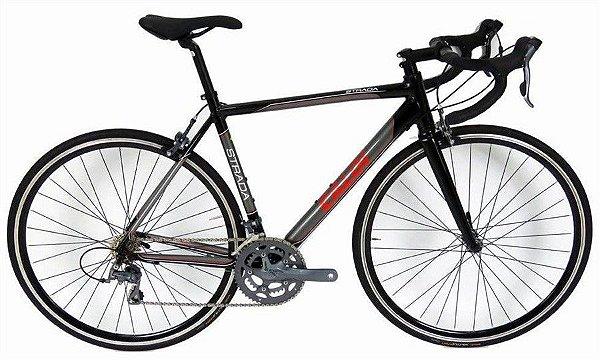 Bicicleta Caloi Strada Claris Aro 700 Preta