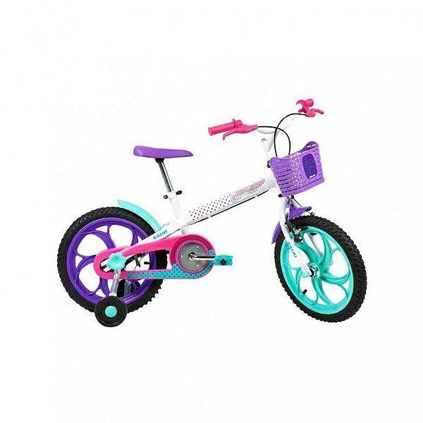 Bicicleta Infantil Aro 16 - Caloi Ceci - Aço - Branca