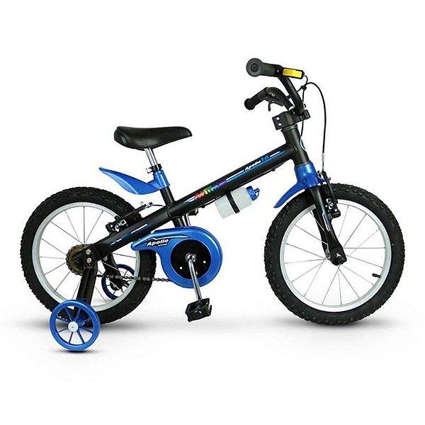 Bicicleta Infantil Aro 16 - Nathor Apollo - Aço - Preto e Azul