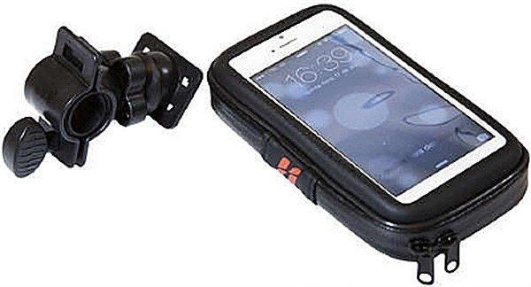 Bolsa de Celular P/Bicicleta - High One (iPhone) - Zíper - Preto