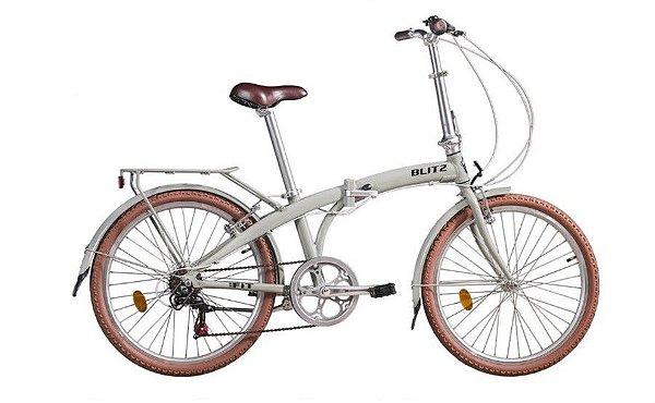 Bicicleta Blitz Fit Dobrável Aro 24