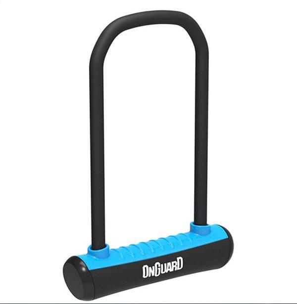 Cadeado P/ Bicicleta - Onguard Neon - U-Lock - Aço Temperado - Preto