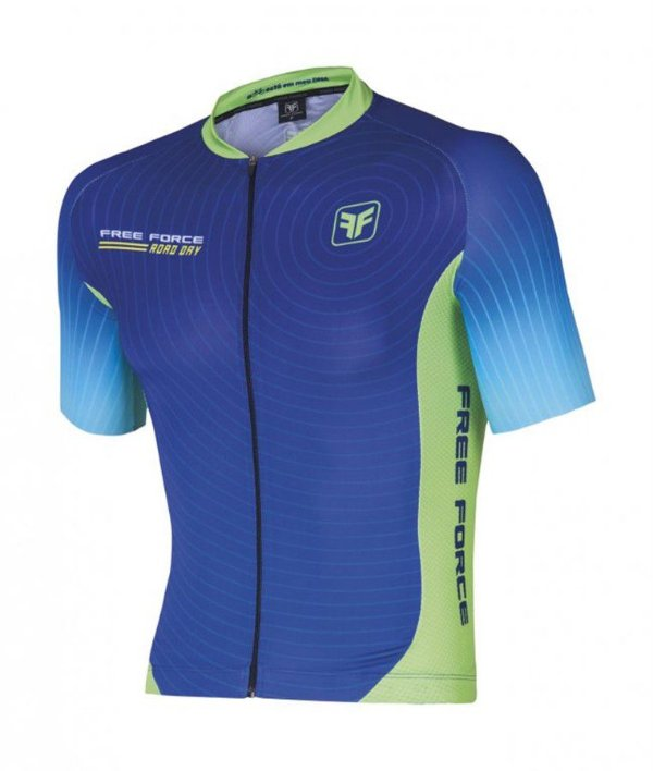 Camisa De Ciclismo -  Free Force Road Day - Masculina - Azul
