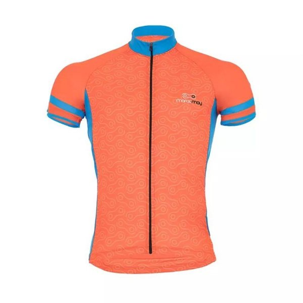 Camisa de Ciclismo - Márcio May - Light Elos - Masculina - Laranja eAzul