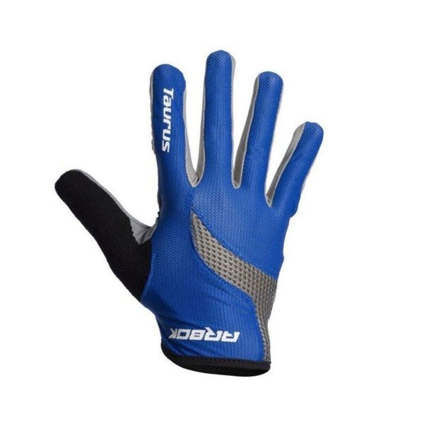 Luva de Ciclismo - Arbok Taurus - Dedo Longo - Azul, Cinza e Preta