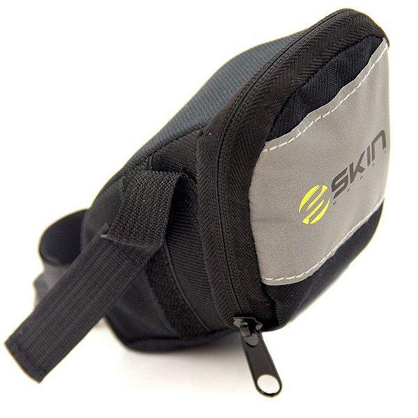 Bolsa de Selim P/Bicicleta - Skin Sport Vista - Velcro - Preto e Refletivo