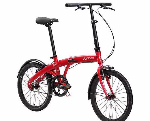 Bicicleta Aro 20 Dobrável - Durban Eco - Single Speed - Aço - Vermelha ou Azul