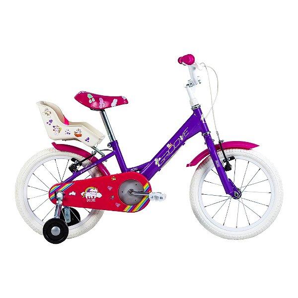 Bicicleta Infantil Aro 16 - Groove Unilover - Aço - Roxa
