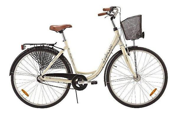 Bicicleta Aro 28 - Tropix Kayoba City Elegance - Shimano Nexus - Alumínio - Creme