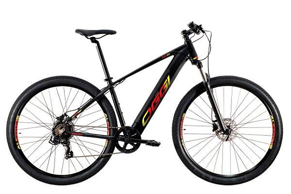 Bicicleta Aro 29 Elétrica - Oggi 8.0 Preta - 2021 - Alumínio - Shimano 7 Velocidades