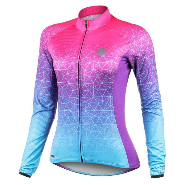 Camisa de Ciclismo Feminina Manga Longa Weft Mauro Ribeiro