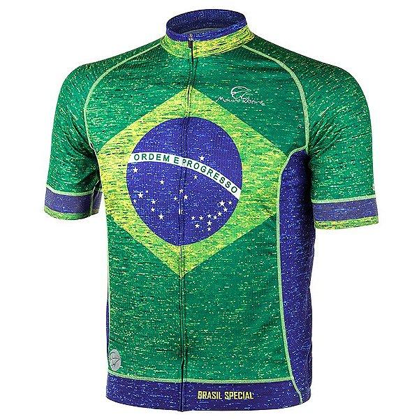 Camisa de Ciclismo Masculina Brasil Special Mauro Ribeiro