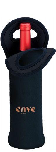 Porta Garrafa em Neoprene para 1 garrafa (preto)