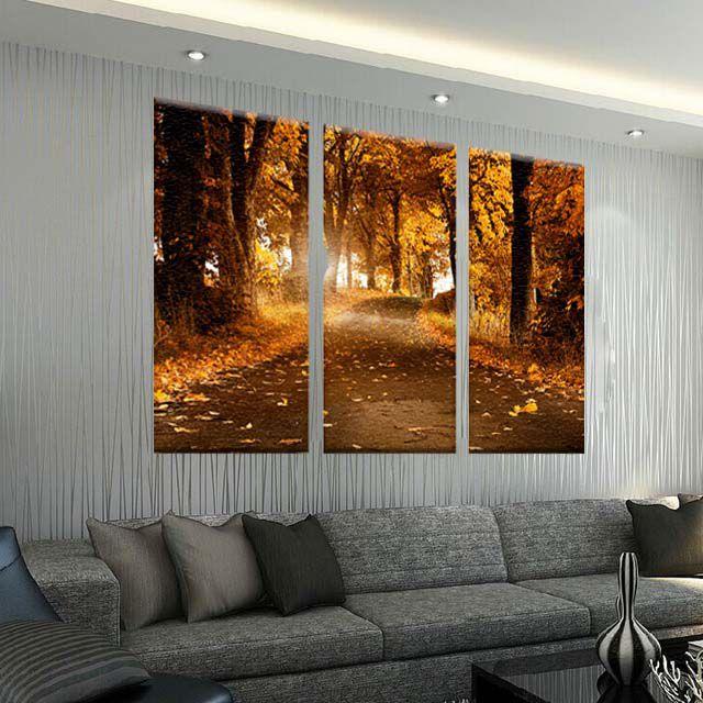 Conjunto de Telas Decorativas Floresta Natureza  3 peças