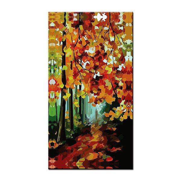 Quadro Floresta Pintura Tela Decorativa