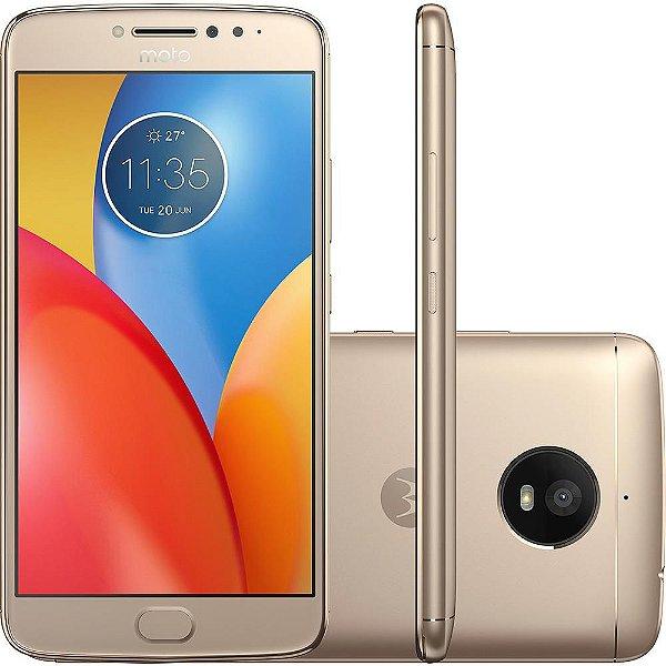 "Smartphone Motorola Moto E4 Plus Dual Chip Android 7.1.1 Nougat Tela 5.5"" Quad-Core 1.3GHz 16GB 4G Câmera 13MP - Ouro"