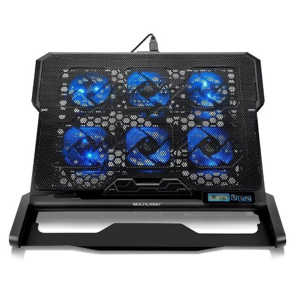 Cooler para Notebook com 6 Cooler Led USB Multilaser AC282