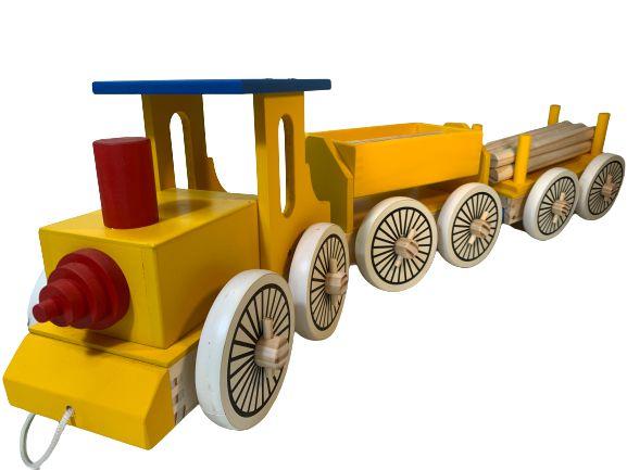 Trem Grande Clássico de Madeira