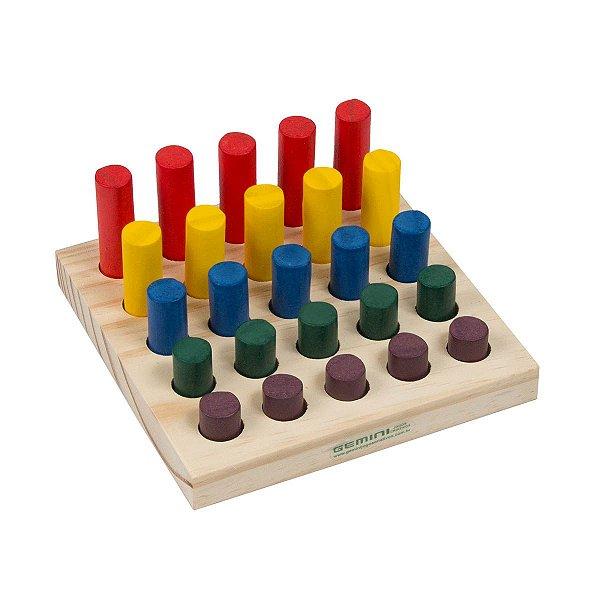 Jogo Montessori de Pinos
