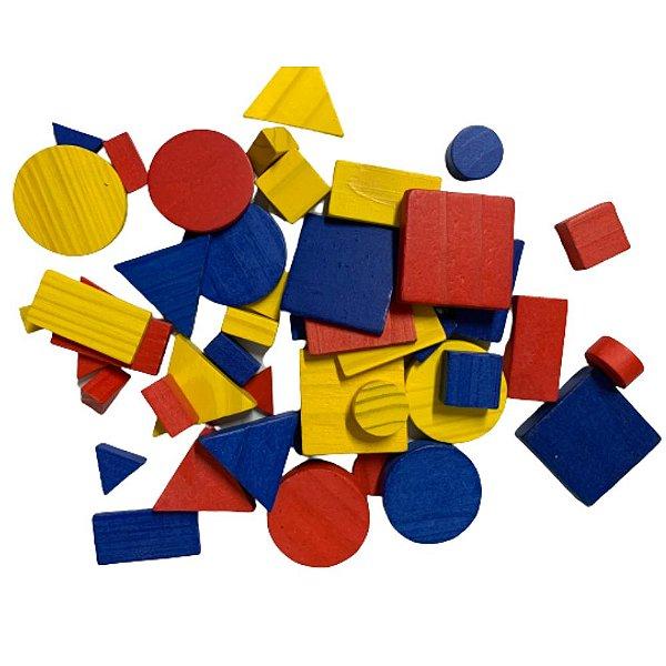 Blocos Lógicos Montessori- 48 Peças