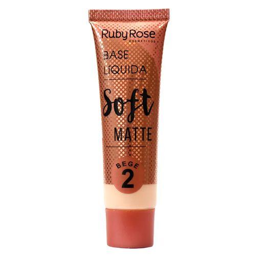Base Soft Matte Bege Ruby Rose