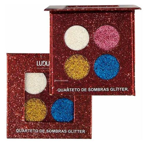 Quarteto de Sombras Glitter Ludurana