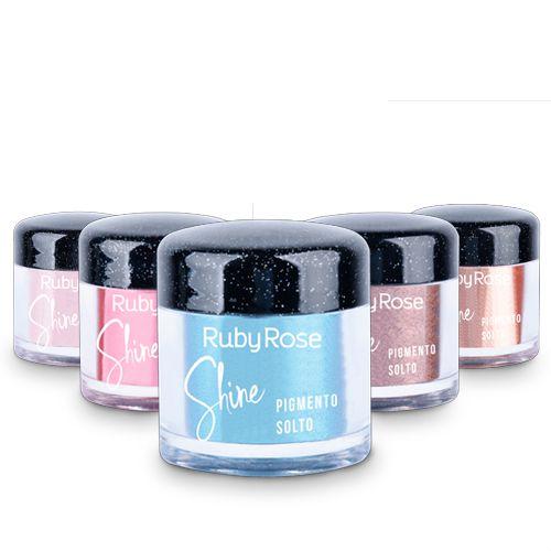 Pigmento Solto Shine Ruby Rose