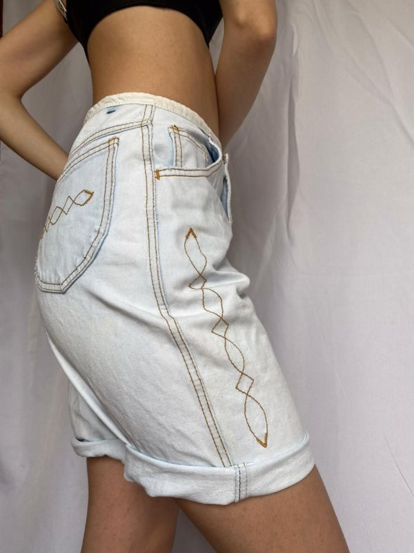 Bermuda Jeans Claro 36/38