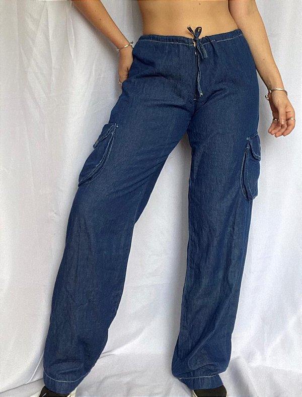 Calça Jeans Cargo HAMUCHE (38/44)