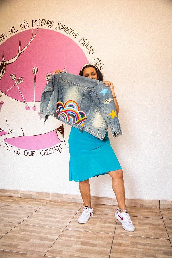 Jaqueta Jeans Colors (P)